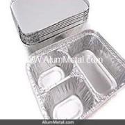 ظرف آلومینیوم یکبار مصرف تک پرس