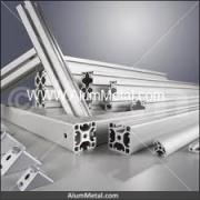 پروفیل آلومینیوم شیاردار صنعتی