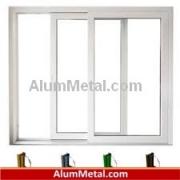 پنجره آلومینیوم ترمال بریک کشویی آنادایز نقره ای