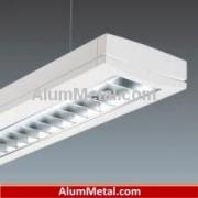 پروفیل آلومینیوم لامپ مهتابی سقفی