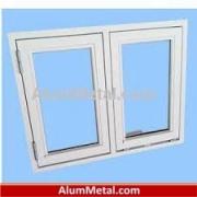 قیمت پروفیل آلومینیوم پنجره دوجداره کشویی سفید