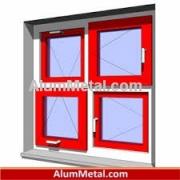 فروش پنجره آلومینیوم لولایی سبک ترمال بریک