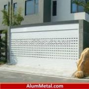 نصب درب آلومینیوم هوشمند کرکره ای پارکینگ