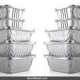 ظروف آلومینیوم یکبار مصرف تک پرس