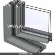 پنجره آلومینیوم لولایی