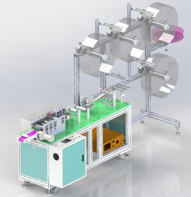 دستگاه تولید ماسک با پروفیل آلومینیوم شیاردار